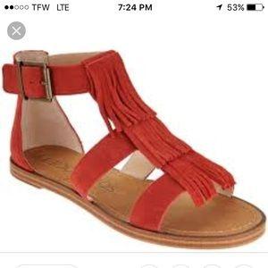 Sole society Fauna paprika sandals